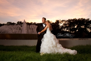 WeddingFountainSunset